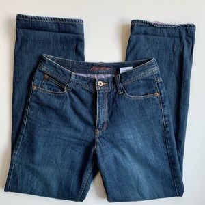 Eddie Bauer | Purple Flannel Lined Jeans